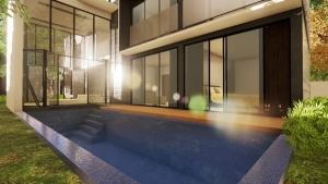 Pool und Living-Ansicht - Render - Architectural BIM software - Edificius