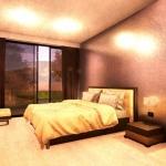 Schlafzimmer mit grafischem Effekt - Render - Architectural BIM software - Edificius