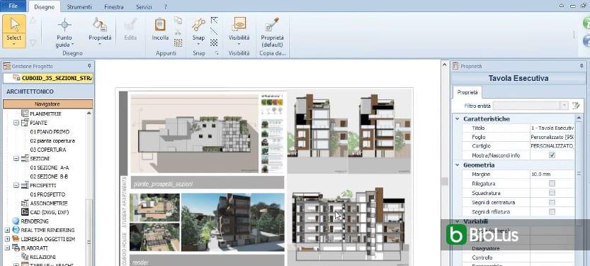 Ein Projekt ändern und die dynamische Aktualisierung aller Ansichten des Modells erhalten Edificius