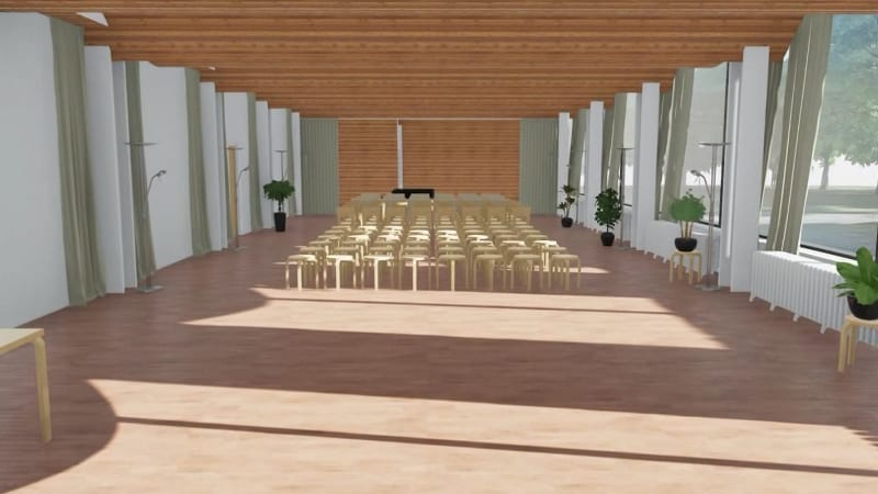 Decke-Bibliothek-Viipuri-Rendering-BIM-Software -Edificius
