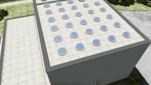 Kreisförmige konische Öffnungen – Villa Viipuri(Rendering – BIM-Software Architektur Edificius)