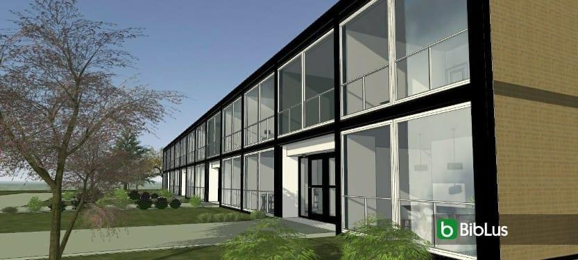 Klassische Und Moderne Reihenhäuser, Projekt Lafayette Park Von Mies Van  Der Rohe