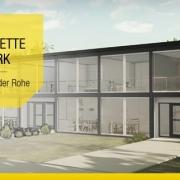 Klassische und moderne Reihenhäuser, Projekt Lafayette Park von Mies van der Rohe_Lafayette Park-Mies Van der Rohe