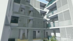 """Beispiel für modernes Design der """"Social Housing"""" in Lleida realisiert - mit Edificius erstellte Renderings (2)"""
