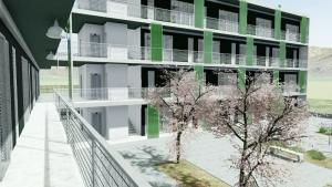 Social Housing - Lleida – Detail Außenbereich