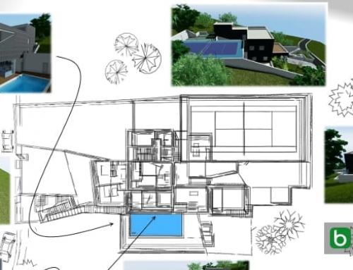 Zweistöckiges Einfamilienhausprojekt mit DWGs zum Download