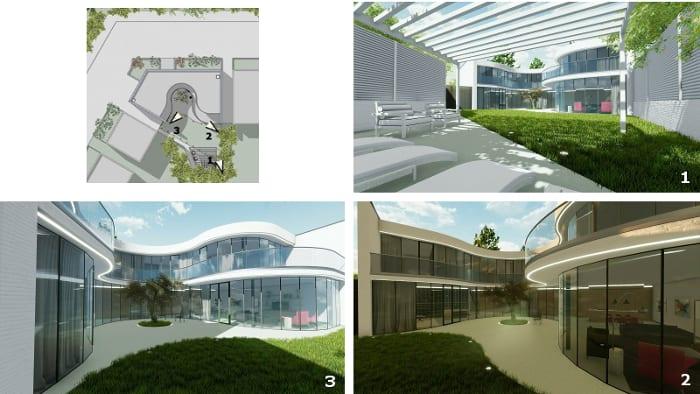 Casa-Kwantes_Lagepläne_mit_Sichtfeld_und Ansichten