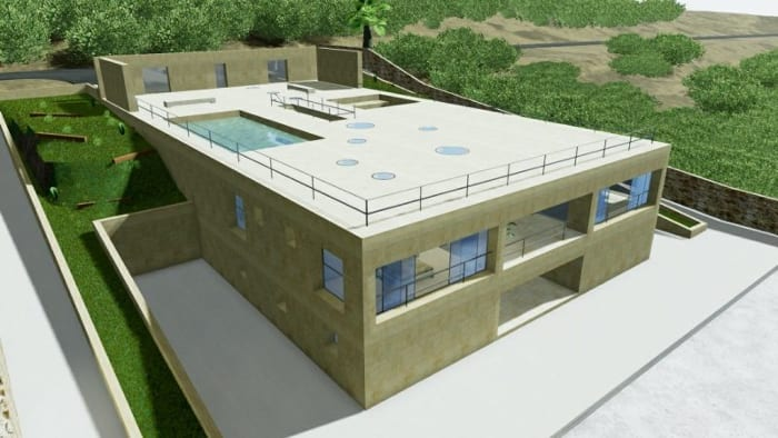 Modern-Einfamilienhäsuer-House-of-the-Infinite-gesamtes-Rendering-BIM-Software-Edificius