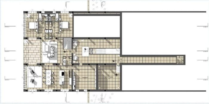 Moderne-Einfamilienhäuser-House-of-the-Infinite-Grundriss Erste-Etage-BIM-Software-Edificius