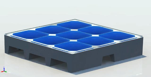 Photovoltaik-Fliese-Solar