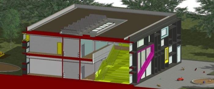 3D-Schnittzeichnung-02-Troplo-Kids_BIM-Software-Architektur-Edificius