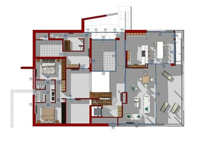 Grundriss-Erste Etage-BIM-Software-Edificius