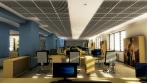 Zwischendecke-Gitterelementen-Rendering-Innen-Büro-Edificius-BIM-Software-Architektur