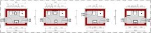 Badezimmer-Schemata-Gegenübergesetzte-mit Fenster- Edificius-BIM-Software-Architektur