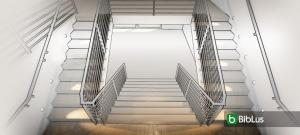 Wie man die Architektur einer Treppe zeichnet: Beispiele zum downloaden