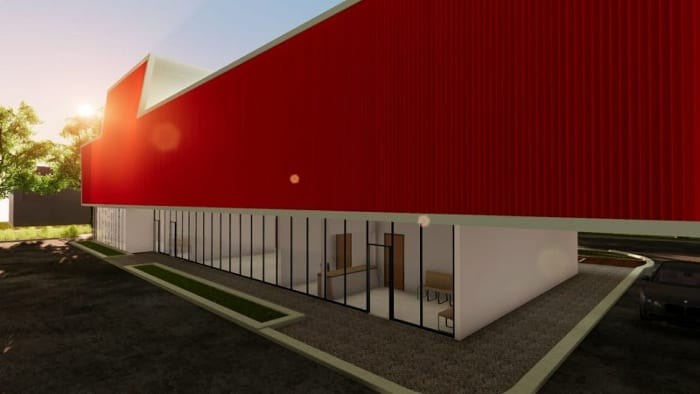 Harvey-Pediatric-Clinic_Außenbereich-Rendering_BIM-Software-Architektur-Edificius