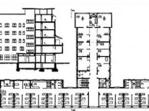 Krankenhaus-einzelnes Gebäude