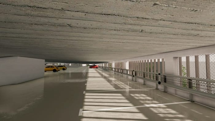 Parking-Les-yeux-verts_Detail-Texture_ BIM-Software-Architektur-Edificius