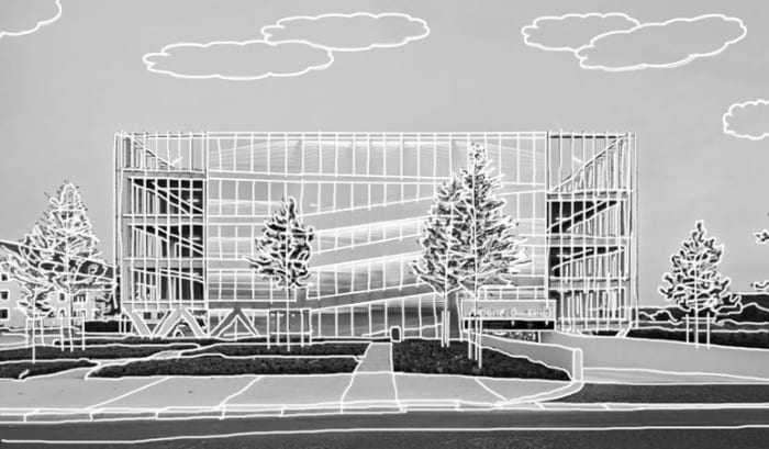 Parking-Les-yeux-verts_Rendering-Sketch_ BIM-Software-Architektur-Edificius