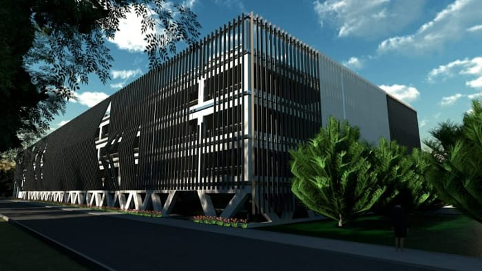 Projekt-Parkplatz-DWG_Rendering-Fassade_BIM-Software-Architektur-Edificius