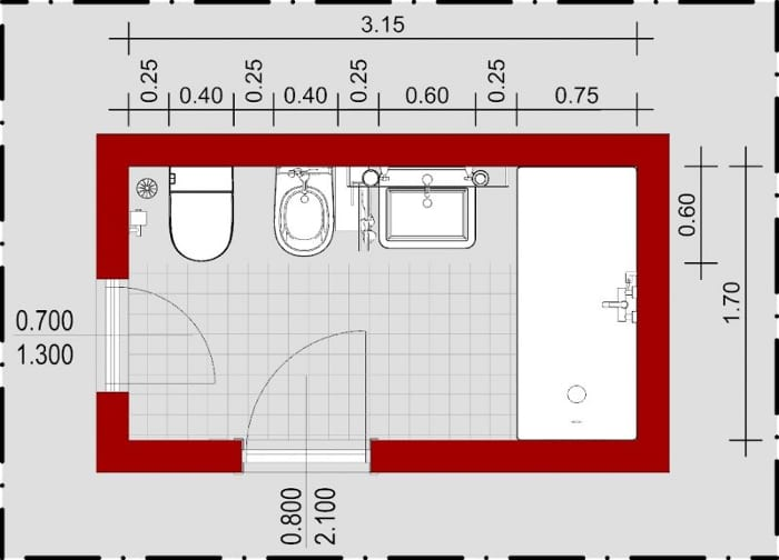 Wie-man ein Badezimmer entwirft-Grundriss-Edificius-BIM-Software-Architektur