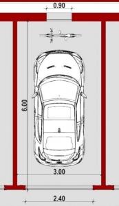 Modul-Standard-Grundriss-Wie man eine Garage plant-BIM-Software-Edificius