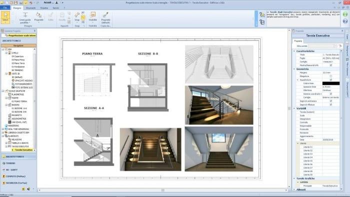 Treppenhausgestaltung-Ausführungsplan-BIM-Software-Architektur-Edificius