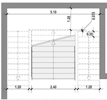 Treppenhausgestaltung-Dreiläufige E-Treppe mit Halbpodest-Grundriss-BIM-Software-Architektur-Edificius