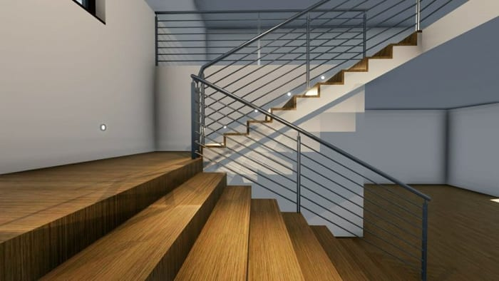 Treppenhausgestaltung-Rendering-BIM-Software-Architektur-Edificius