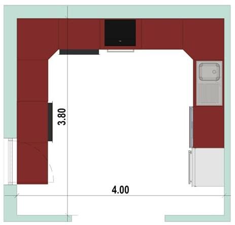 Wie-man-eine-U-foermige-Kueche-entwirft-Grundriss-Architektur-BIM-Software-Edificius