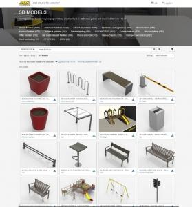 BIM-Objekte-Bibliothek-acca-software-Stadtmoeblierung