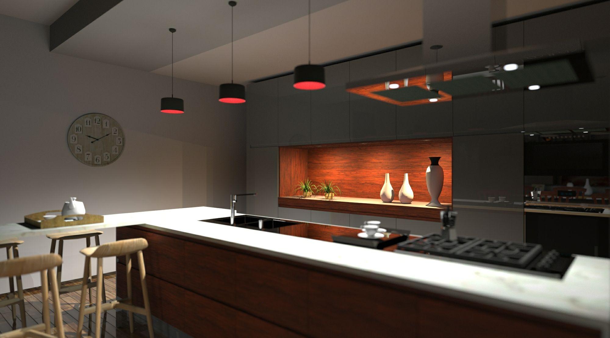 Die Kuche gestalten eine technische Anleitung fur Entwerfer_Rendering_Edificius