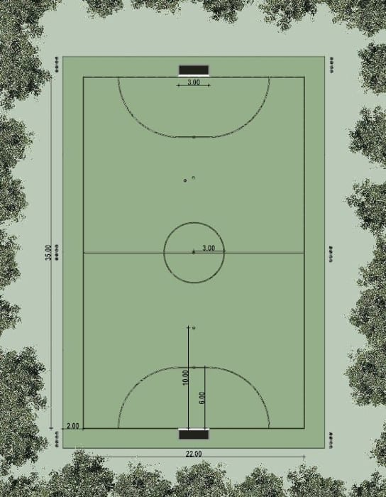Basketballplatz-Projekt-Lageplan-BIM-Software-Architektur-Edificius
