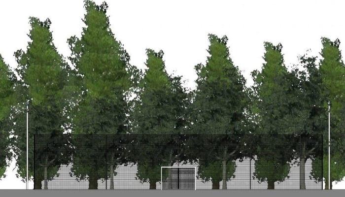 Futsalplatz-Projekt-Schnitt-A-A-BIM-Software-Architektur-Edificius