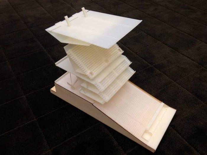 3D-Druck-Architektur-Modell-Beispiel