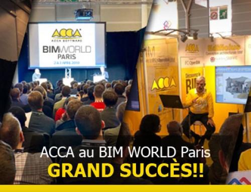 Großer Erfolg von ACCA software auf BIMWORLD mit BIM, VRI, AI und Real Time Rendering.