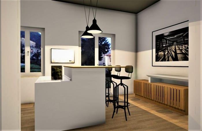Projekt- für die Renovierung einer Wohnung-Rendering-Innenbereich-Essbereich-NACHHER-Architektur-BIM-Software-Edificius