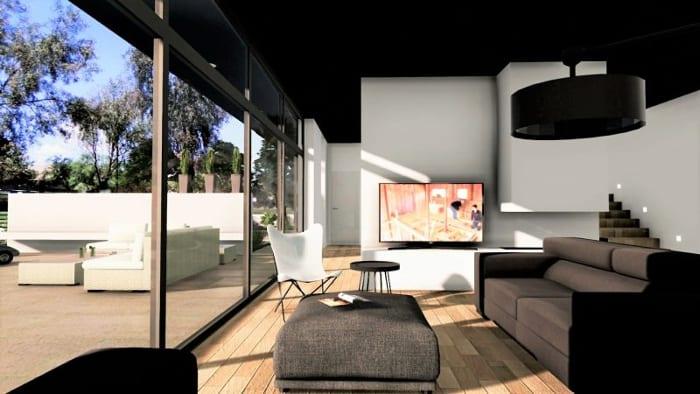 Rendering des Innenbereichs eins Einfamilienhauses – mit Edificius erstellt