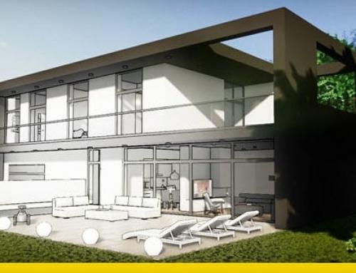 Projekt eines Einfamilienhauses, hier ein technischer Leitfaden
