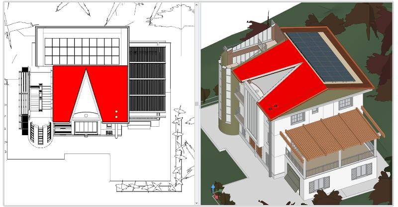 Import-3D-Modell-Photovoltaikfeld