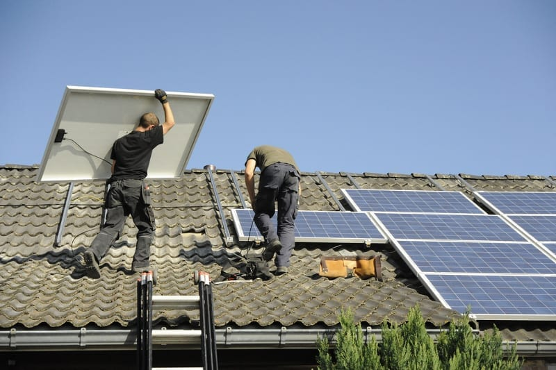Installation-der-Photovoltaikanlage