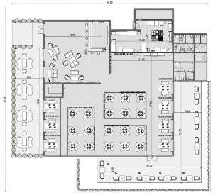 Restaurantplanung-Grundriss-Architektur-BIM-Software-Edificus