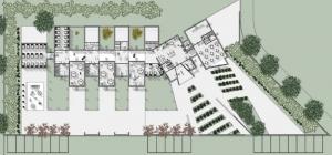Entwurf einer Kindertagesstaette-Grundriss-Erdgeschoss-Software-Edifiicus