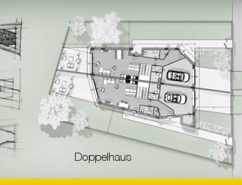 Wie man ein Doppelhaus entwirft: Leitfaden mit Projektbeispiel zum Download