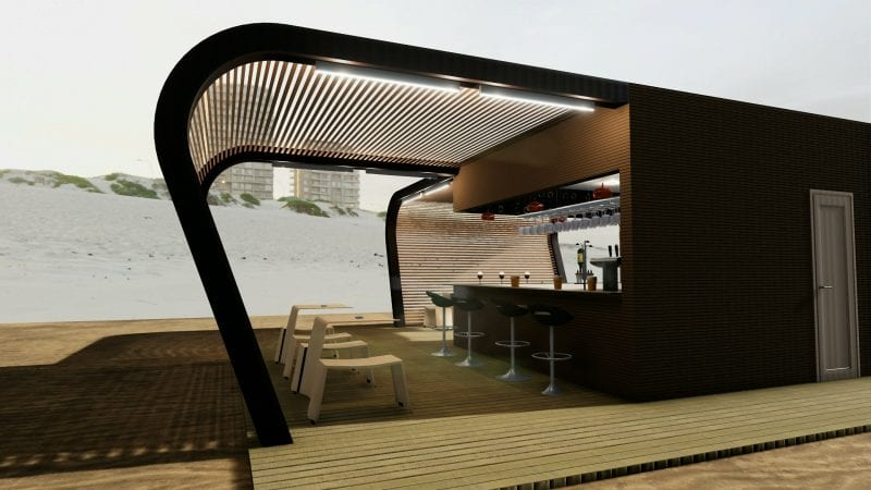 Imbiss-Design-Bar-Rendering-Sitzplätze-BIM-Architektur-Software-Edificius