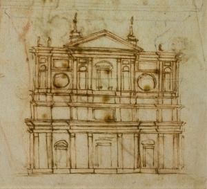 Michelangelo-Ansicht-Fassade-San-Lorenzo-Firenze