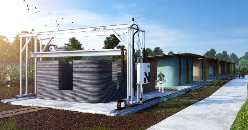 Bild das den 3D-Druck eines Gebäudes darstellt