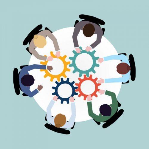 Darstellung der verschieden Fachleute die an BIM-Prozessen Beteiligt sind