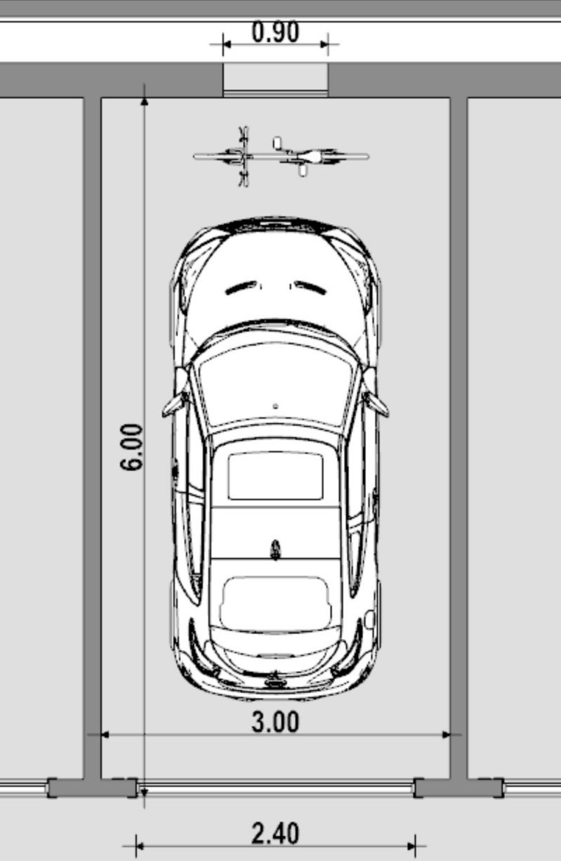 Visualisierung eines Garagenboxes Grundriss Einzelmodul