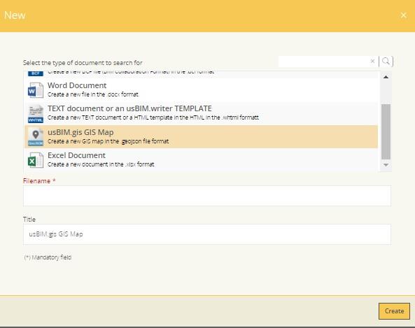 Erstellen eines neuen Dokuments mit usBIM.platform